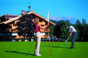 Golfen in Kitzbühel in Tirol