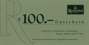Rasmushof Gutschein 100 Euro - Golf & Ski Hotel Rasmushof Kitzbühel