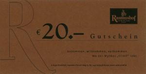 Rasmushof Gutschein 20 Euro - Golf & Ski Hotel Rasmushof Kitzbühel