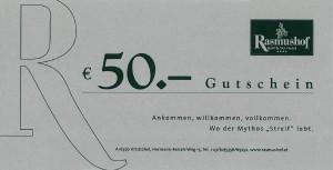 Rasmushof Gutschein 50 Euro - Golf & Ski Hotel Rasmushof Kitzbühel